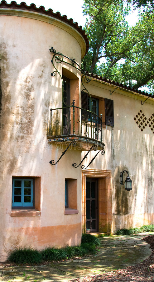 villa śródziemnomorskiej obrazy stock