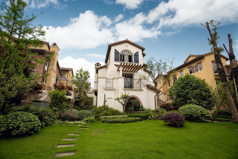 Villa fotografia stock