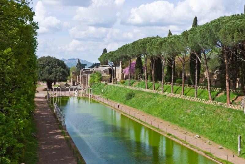 Villa Adriana. View of Villa Adriana, Tivoli, Lazio, Italy stock photography