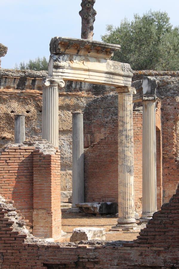 Villa Adriana near Rome stock images