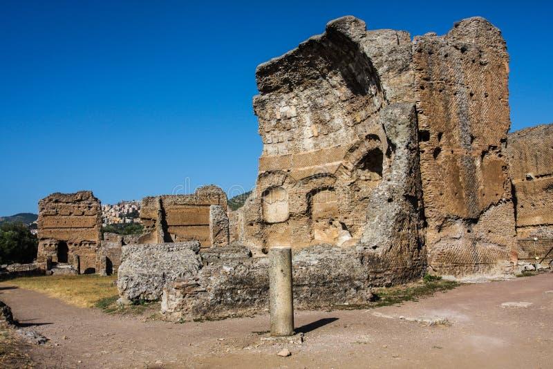 Villa Adriana Roman Ruins på Tivoli Italien royaltyfri bild