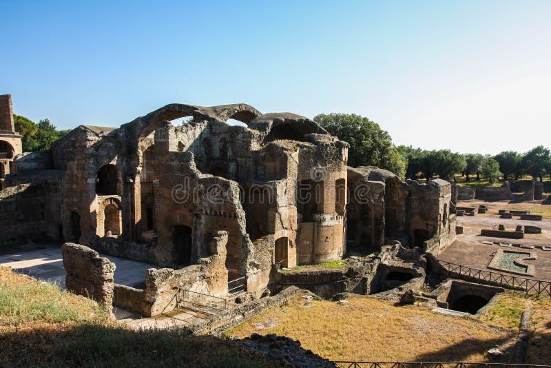 Villa Adriana Roman Ruins at Tivoli Italy royalty free stock photos