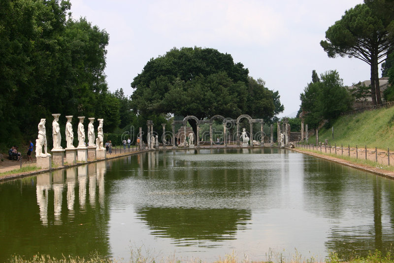 Villa Adriana - Rome royalty-vrije stock fotografie