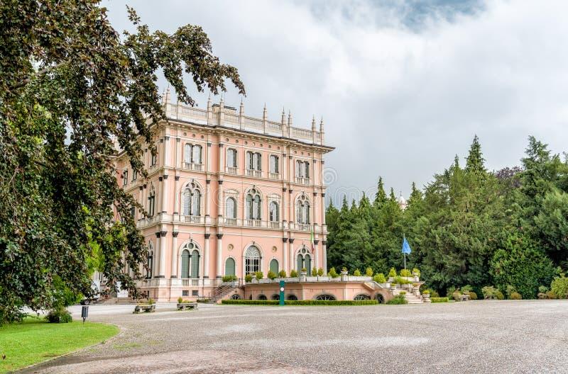 Villa Andrea Ponti, Varese, Italië stock afbeeldingen