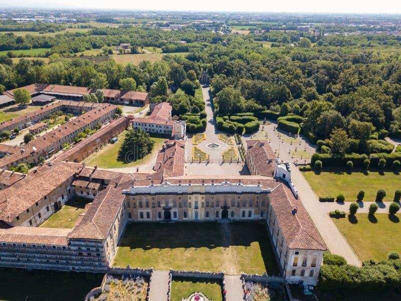 Villa Arconati, Castellazzo, Bollate, Milaan, Italië Luchtmening van Villa Arconati royalty-vrije stock fotografie