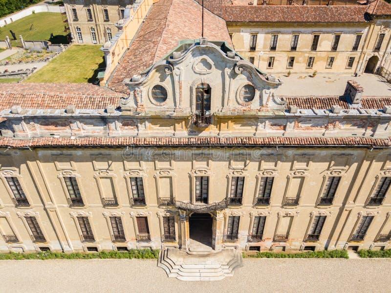 Villa Arconati, Castellazzo, Bollate, Milan, Italien Flyg- sikt av villan Arconati fotografering för bildbyråer