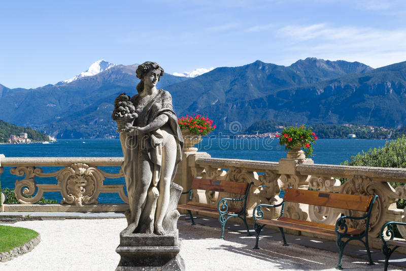 Villa Balbianello italy royaltyfria bilder