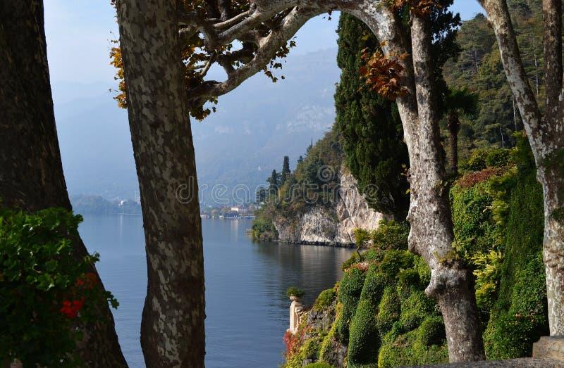 Villa Balbianello sur le lac Como, Italie photographie stock