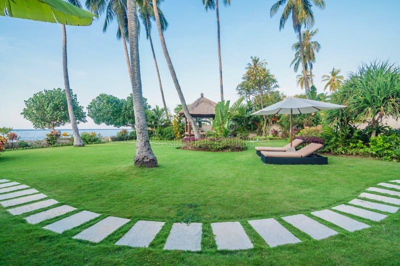 Villa Bali för fem stjärna fotografering för bildbyråer