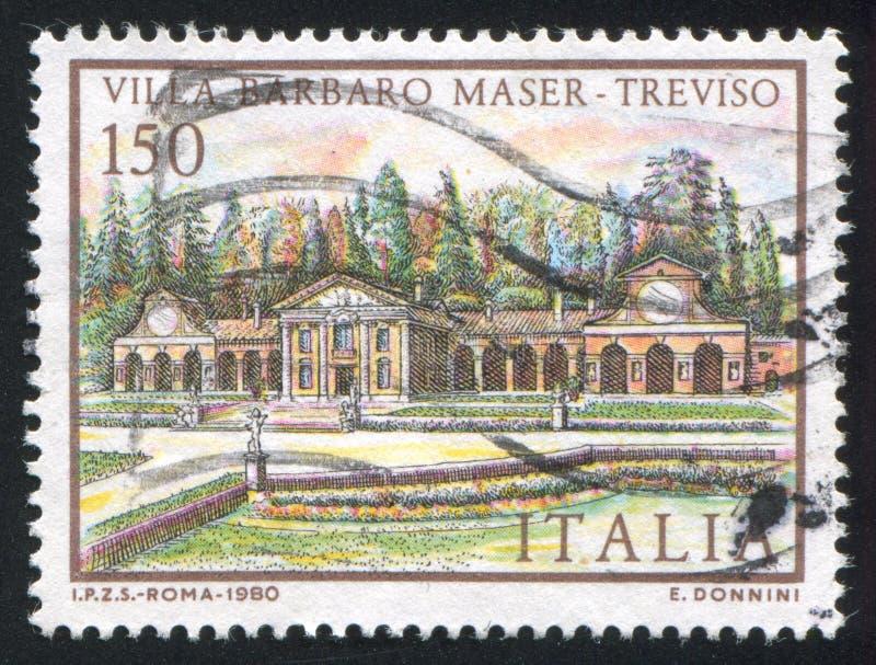 Villa Barbaro Maser in Treviso stock photo