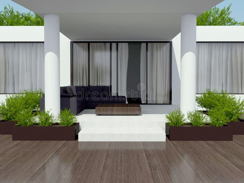 Villa bianca moderna immagini stock