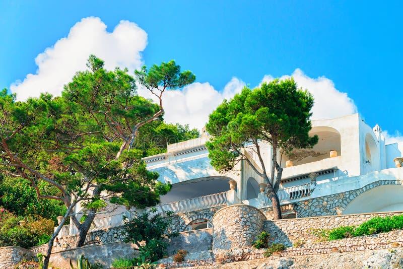 Villa bij Capri-Eiland royalty-vrije stock afbeelding