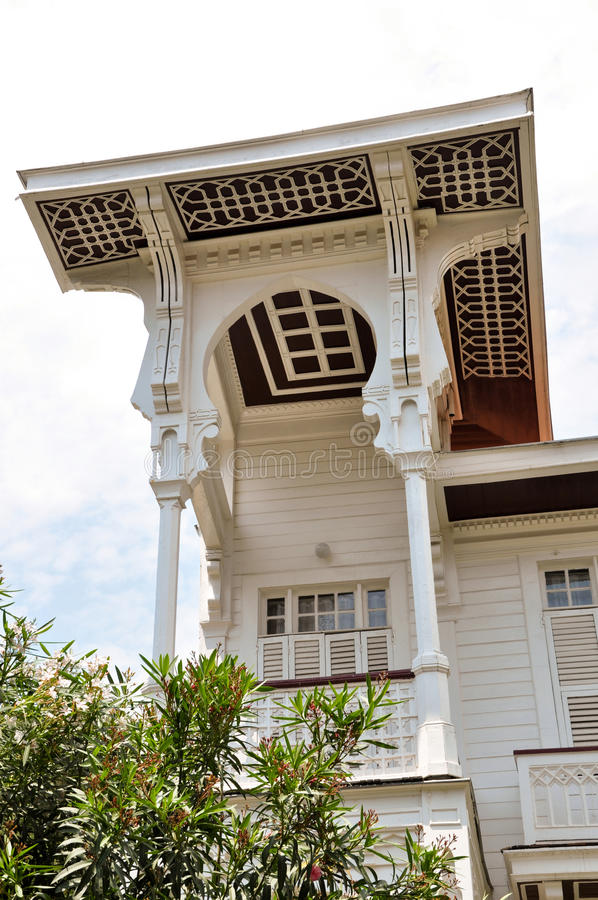Villa blanche images libres de droits