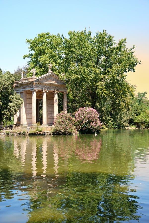 Villa Borghese gardens. Roma, Italy royalty free stock photos