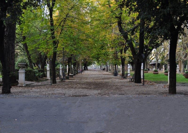 Villa Borghese park in Rome royalty free stock photos