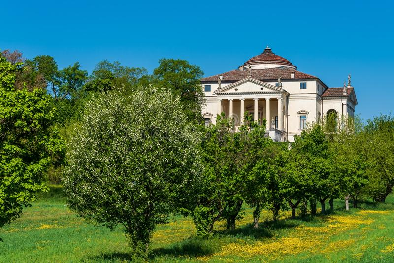 Villa Capra La Rotonda obraz stock