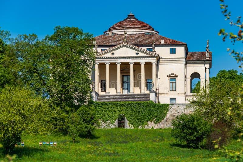 Villa Capra La Rotonda stockbilder