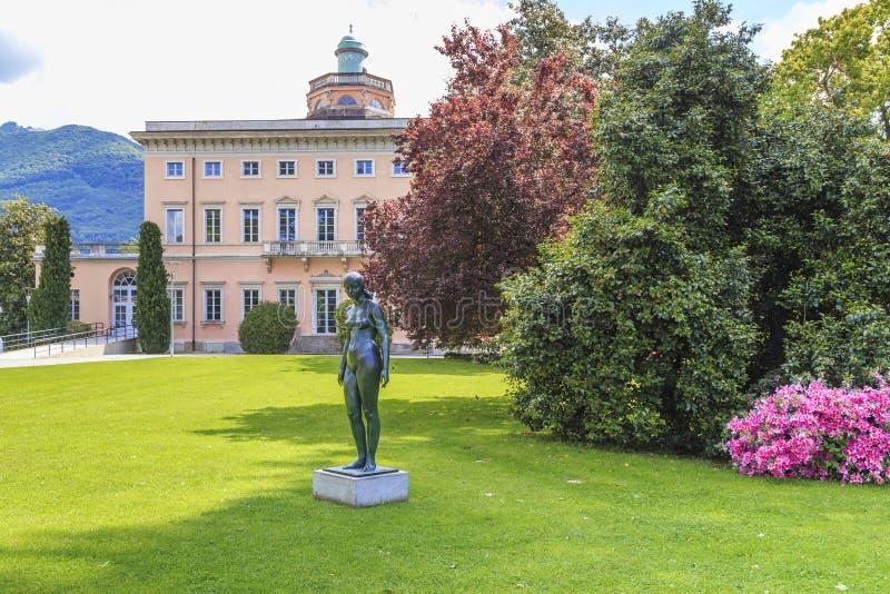 Villa Ciani nel parco di Ciani, Lugano, Svizzera fotografia stock