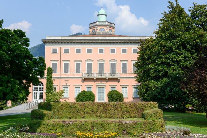 Villa Ciani sul parco botanico di Lugano immagine stock libera da diritti