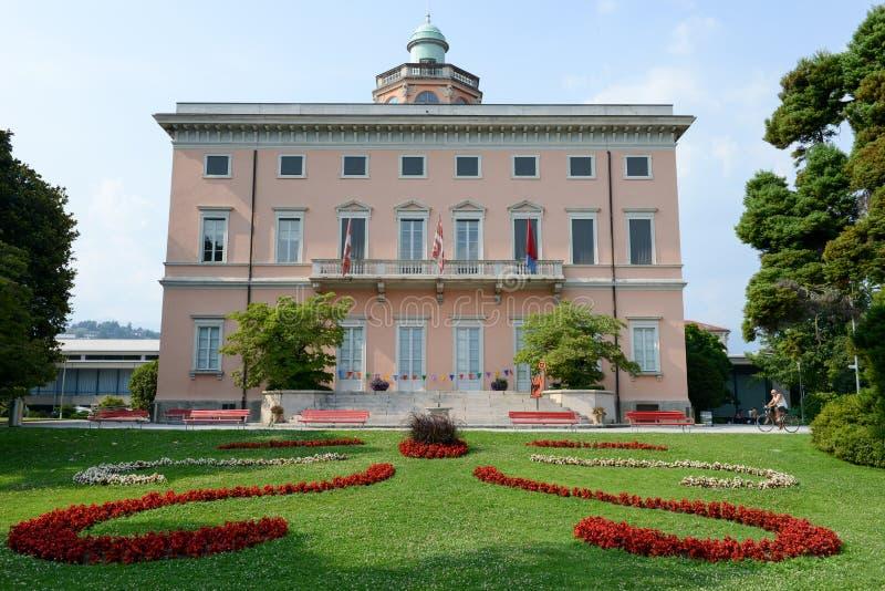 Villa Ciani sul parco botanico di Lugano fotografia stock