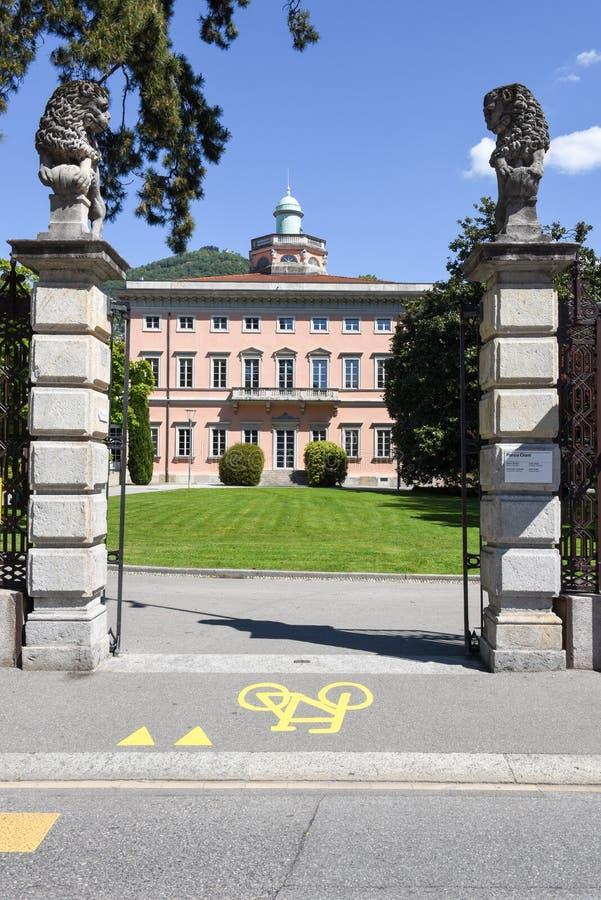 Villa Ciani sul parco botanico di Lugano immagini stock