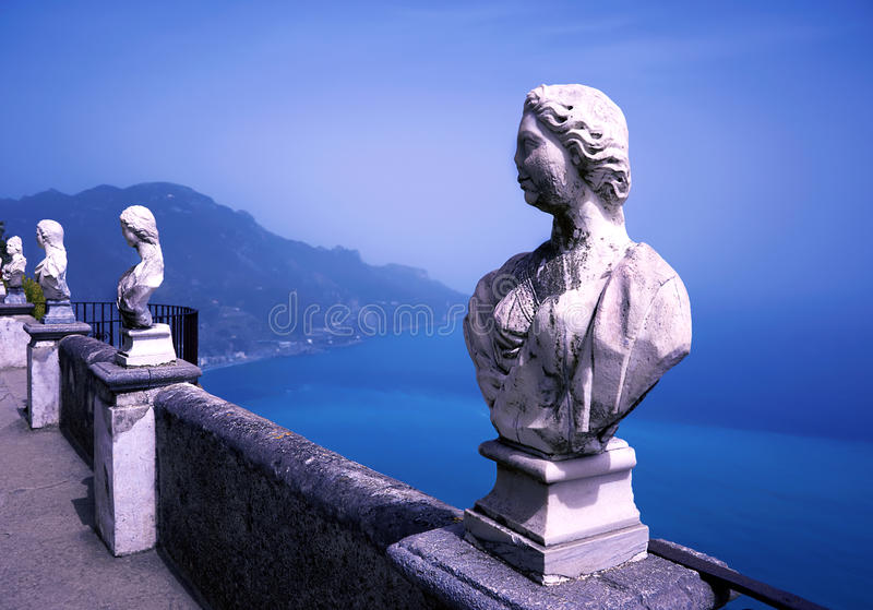 Villa Cimbrone royalty-vrije stock afbeeldingen