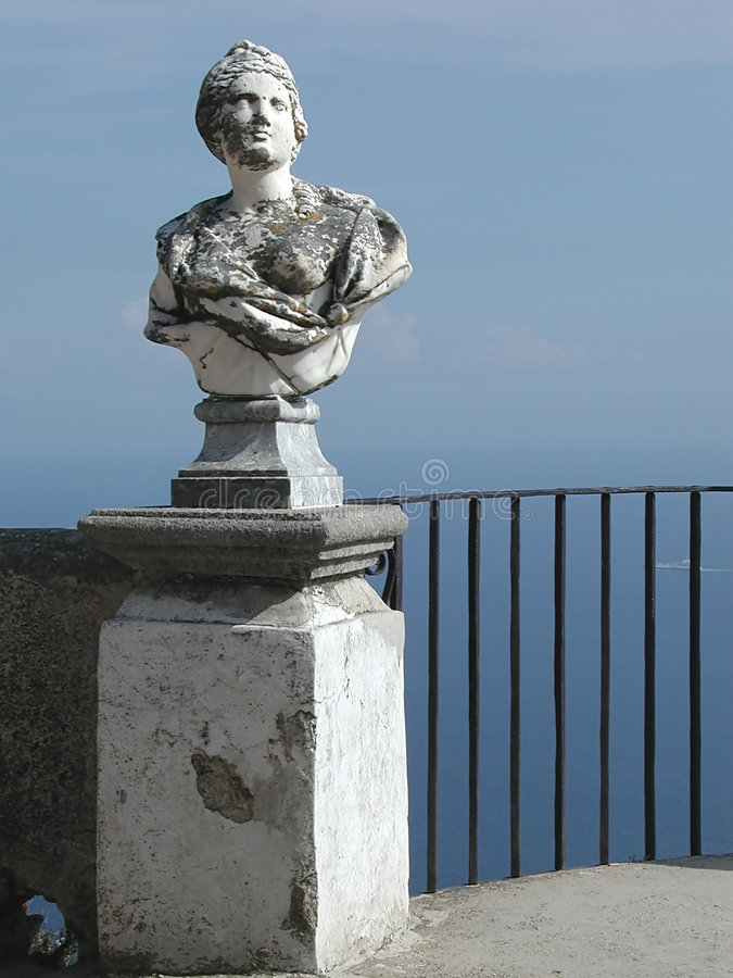 Villa Cimbrone balcony, Amalfi Coast, Italy royalty free stock photo