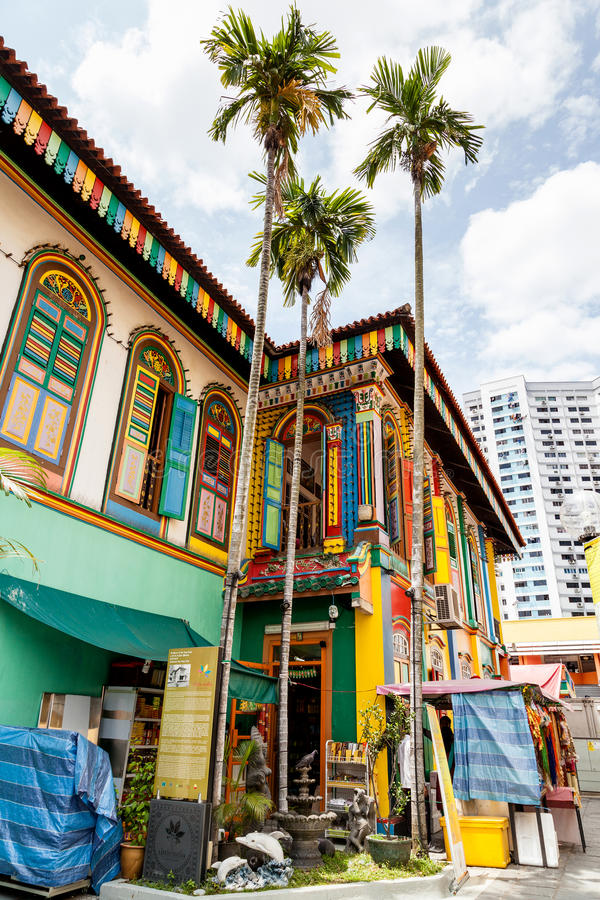 Villa cinese di ultima sopravvivenza in poca India, Singapore fotografia stock