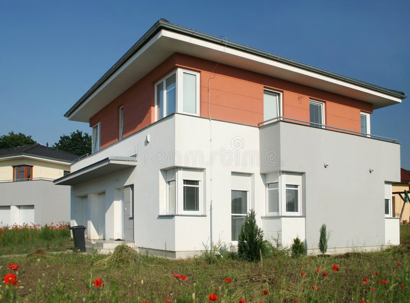 Villa, construction, image libre de droits