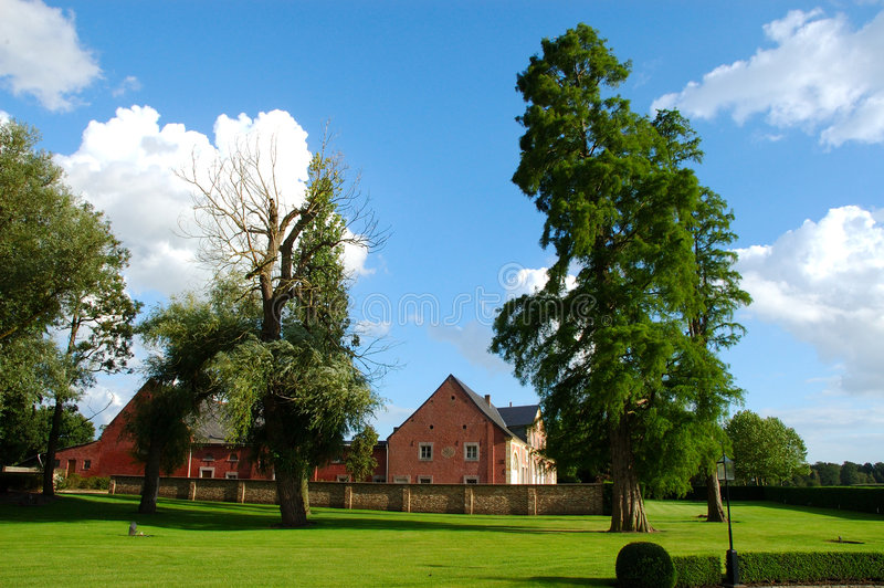 Villa, country house. stock image