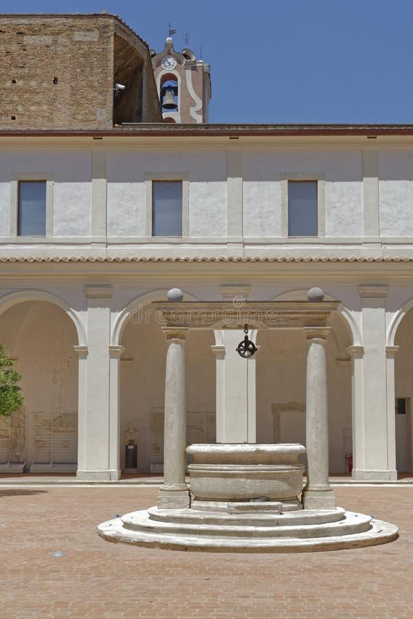 Villa courtyard stock images