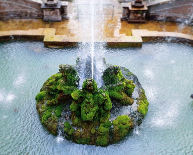 Villa D 'Este een uitzonderlijke fonteintuin stock foto's