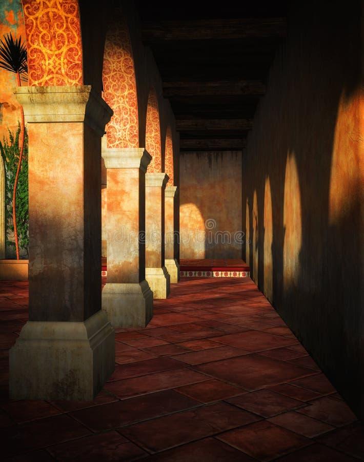Villa 3D background. A Villa background rendered in 3D stock illustration