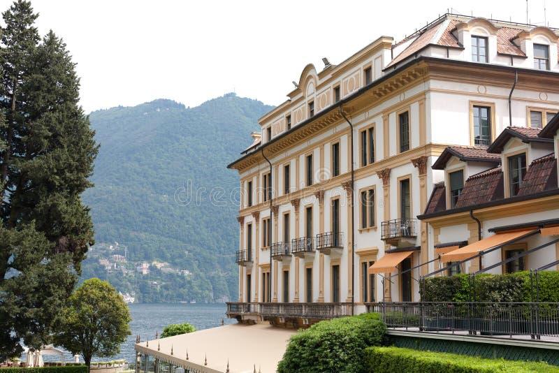 Villa d'este, como lake. Villa d'Este - Luxury Hotel Italy in Como Lake, Cernobbio royalty free stock images