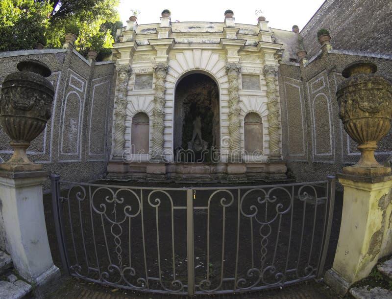 Villa d`este park in Tivoli, Lazio, Italy. Villa d`este park in Tivoli, Lazio, Italy royalty free stock image