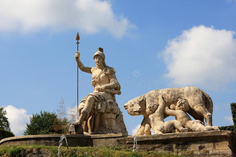 Villa d`Este, Tivoli royalty free stock images
