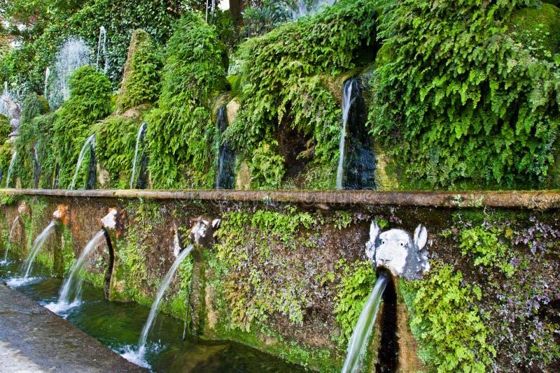 Villa d'Este - Tivoli stock afbeeldingen