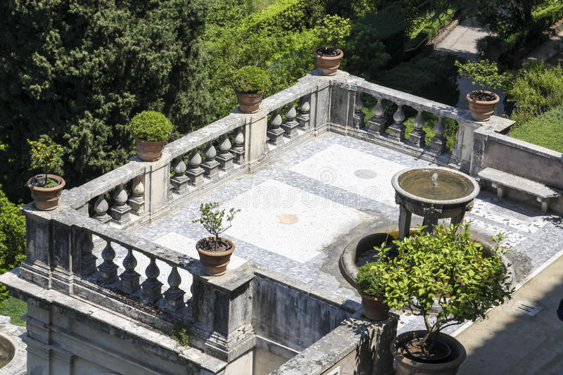 Villa d'Este in Tivoli, Italië stock fotografie