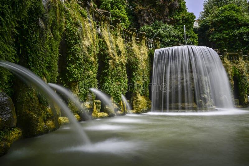 Villa d este in tivoli, italy, europe stock photo