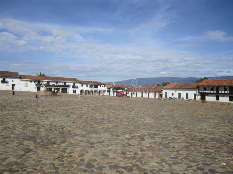 Villa de莱瓦,哥伦比亚, Chiquinquira 库存图片