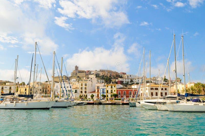 Villa de Dalt à Eivissa, Ibiza images stock