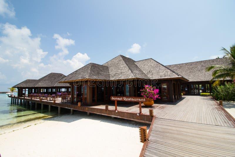 Villa de l'eau des Maldives photographie stock libre de droits