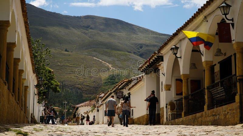 Villa DE Leyva Village in Colombia royalty-vrije stock afbeeldingen
