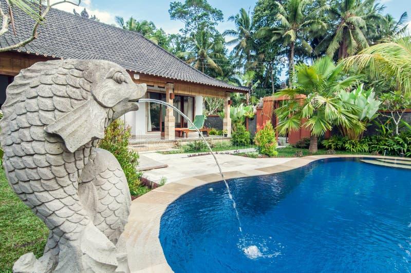 Villa de luxe avec la piscine ext rieure image stock for Piscine exterieure prix