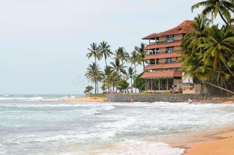 Villa in de oceaan royalty-vrije stock foto's