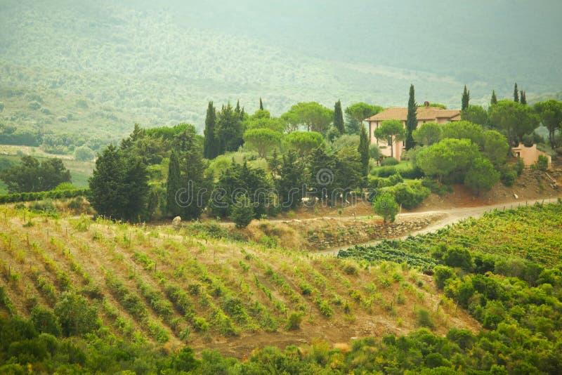 Villa de Pivate chez Toscany photo stock
