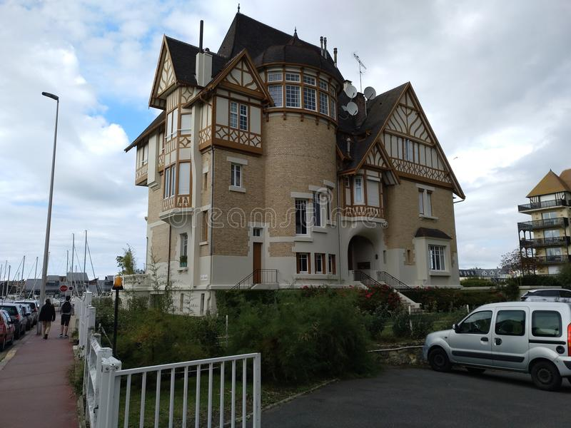 Villa in Deauville stock photo