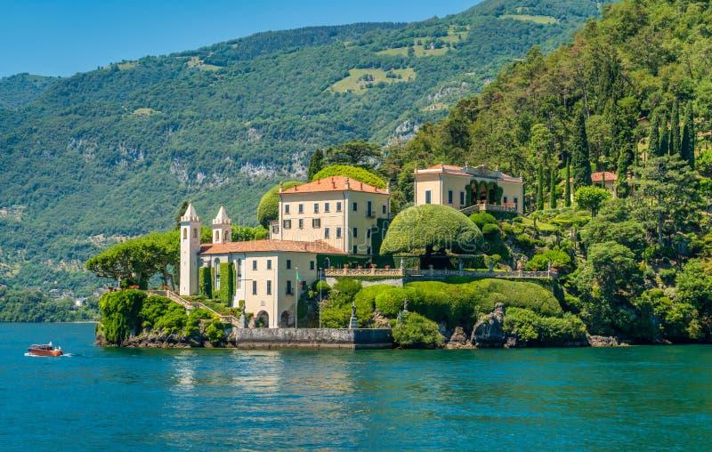Villa del Balbianello,在伦诺,俯视的科莫湖comune的著名别墅  意大利伦巴第 免版税库存图片