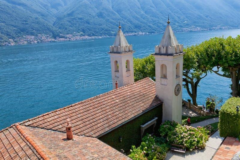 Villa Del Balbianello auf See Como, Lenno, Lombardia, Italien lizenzfreies stockbild