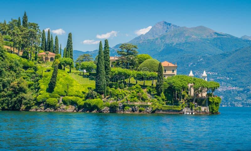 Villa del Balbianello, berömd villa i comunen av Lenno som förbiser sjön Como italy lombardy arkivbild